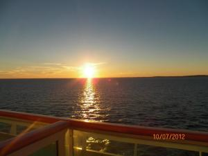 Beautiful sunset on your private balcony!