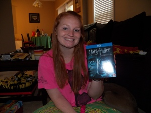 All of the Harry Potter movies on Blu-Ray:)