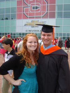 #7: Mus husband graduated with his masters in mechanical engineering:)