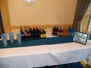 Soda Bar! (The Groom is not into drinking....but he loves is old-fashioned soda)!