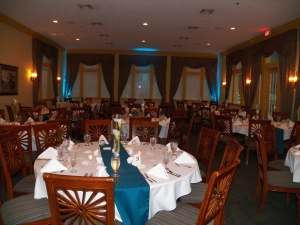 The BEAUTIFUL reception site! The back lighting was awesome!