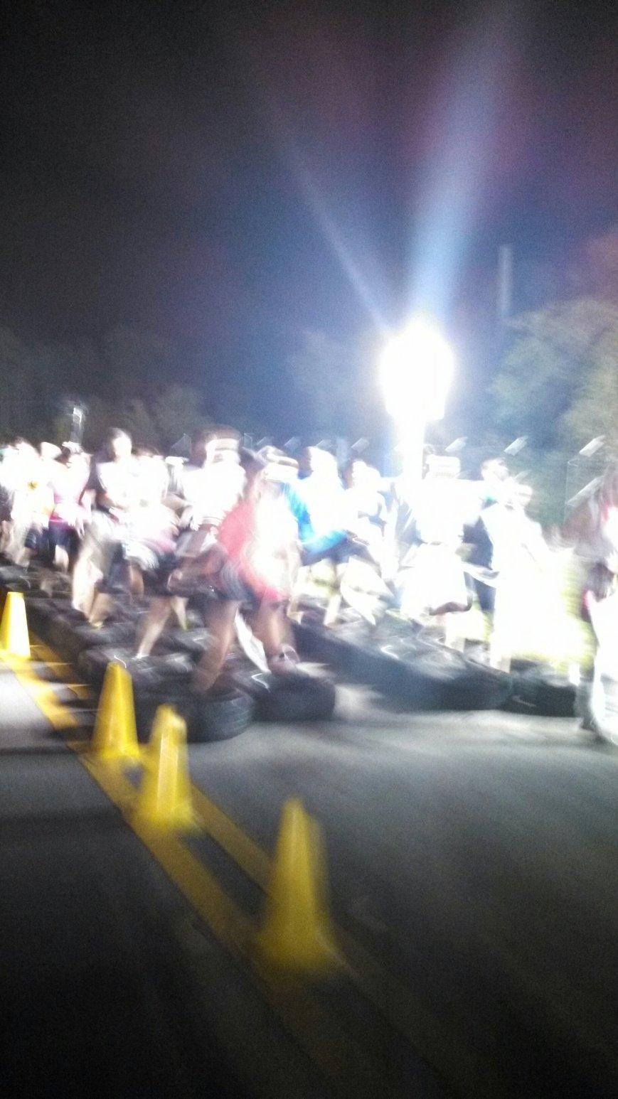 Challenge #2: running through tires.