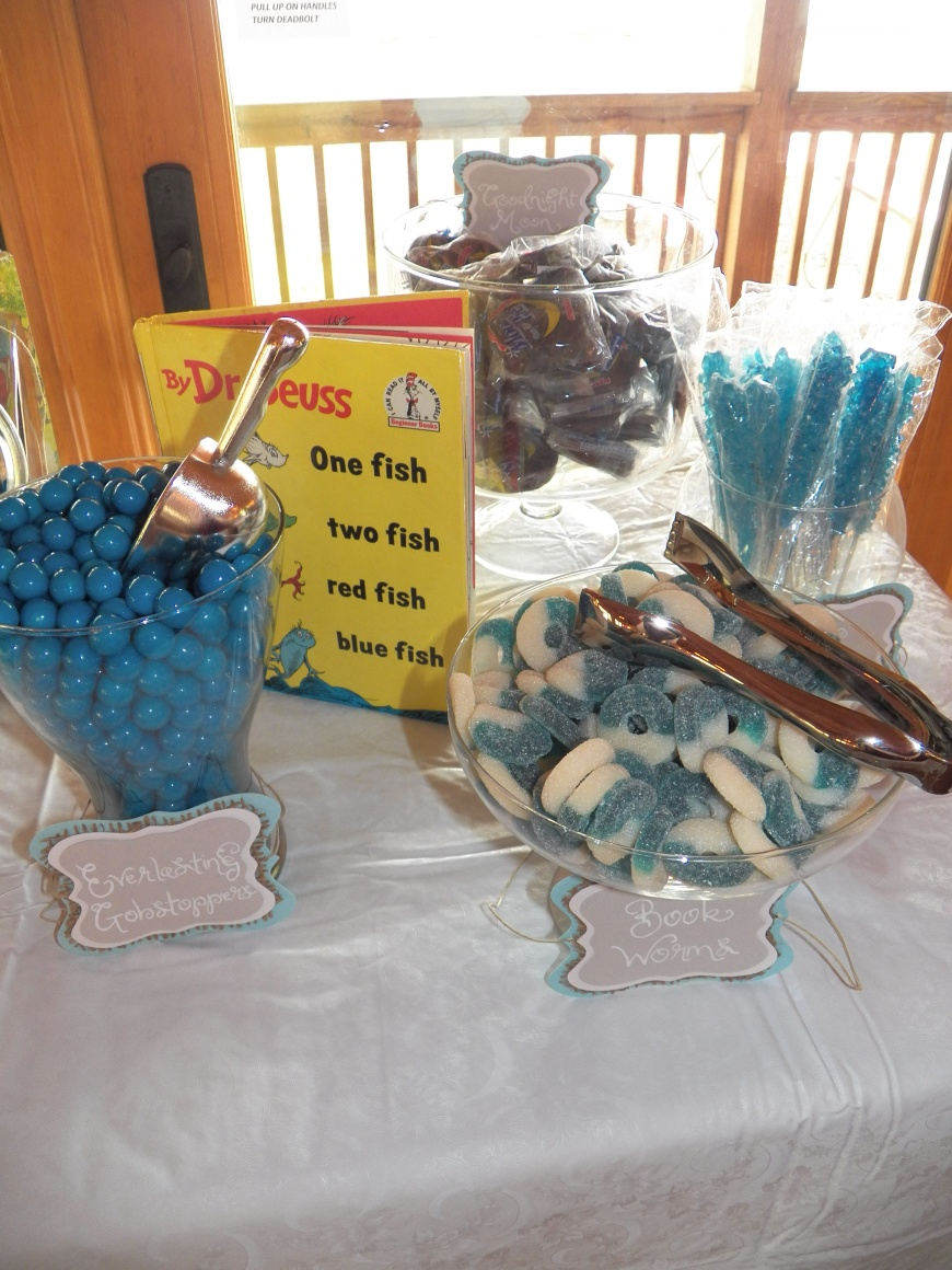Candy Buffet for the Favors. Labels made by Let's Get Decorative.