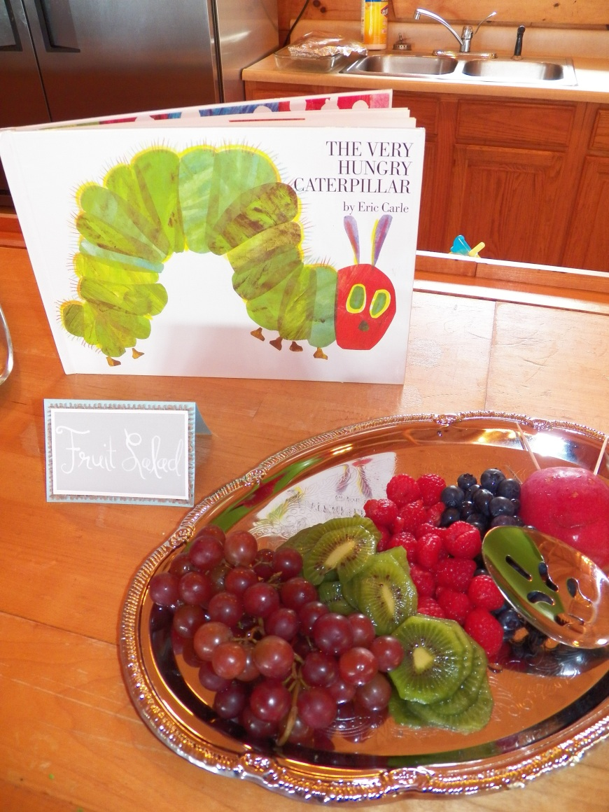 Assorted Fruits for the The Very Hungry Caterpillar. Food Label designed and created by Let's Get Decorated.