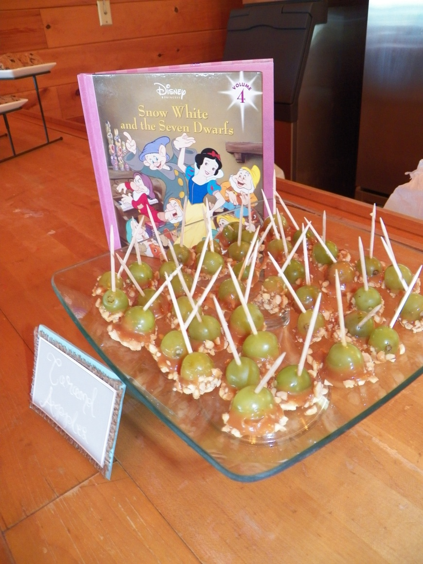 My favorite for sure! A Pinterest Recipe of Caramel Apple Bites for Snow White.