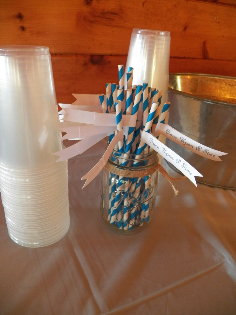 "And straws for the beverages, with tags that said ""Once Upon a Time"". Created by Let's Get Decorative."