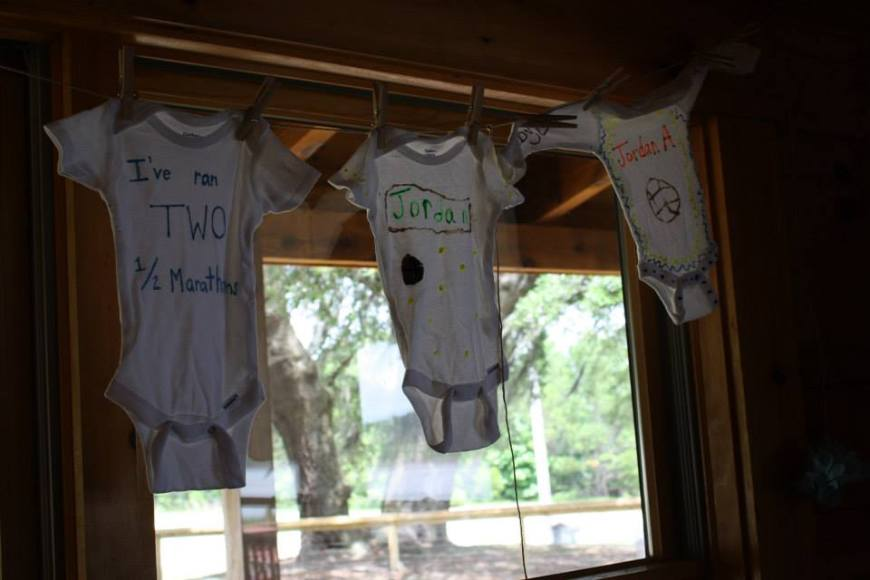 Finished Onesies:) And Yes, Jordan has already completed 2 half marathons!