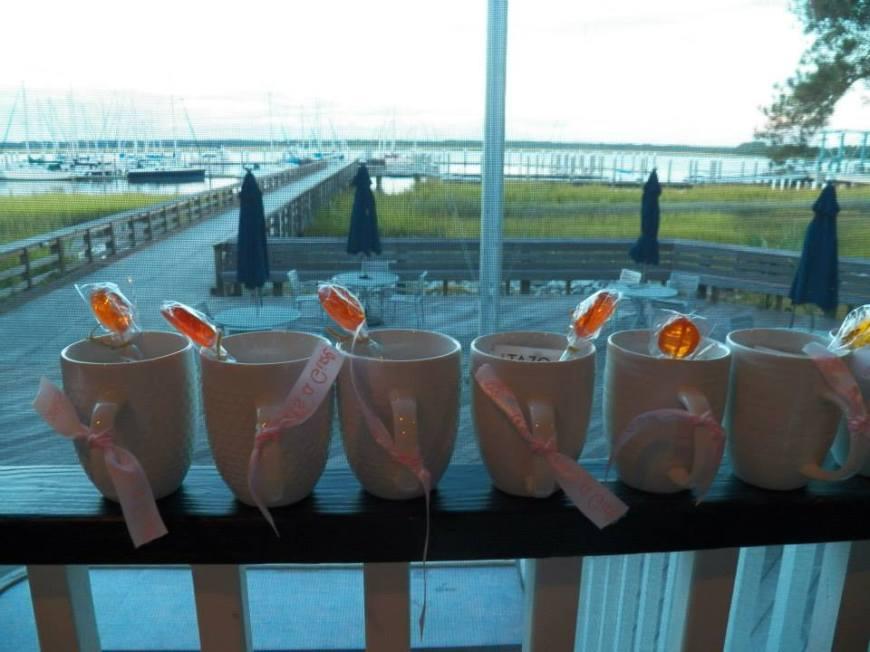 Sweet as Honey Favors.....Tea bags, mugs and honey on a spoon:)