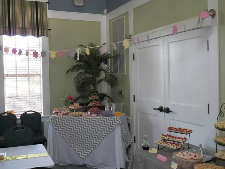 Dessert table. tried to stick to the color scheme:)