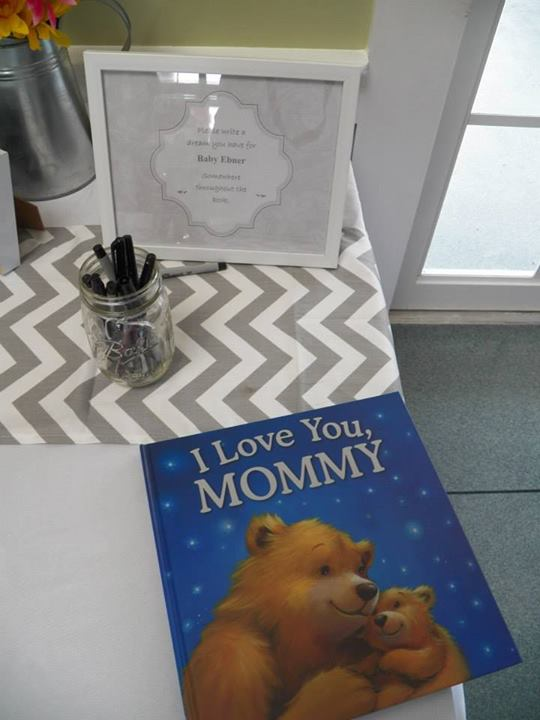 Our version of a Guest Book. Each guest wrote a dream or wish they had for the baby.