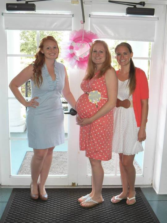 The mommy to be with the Aunts!