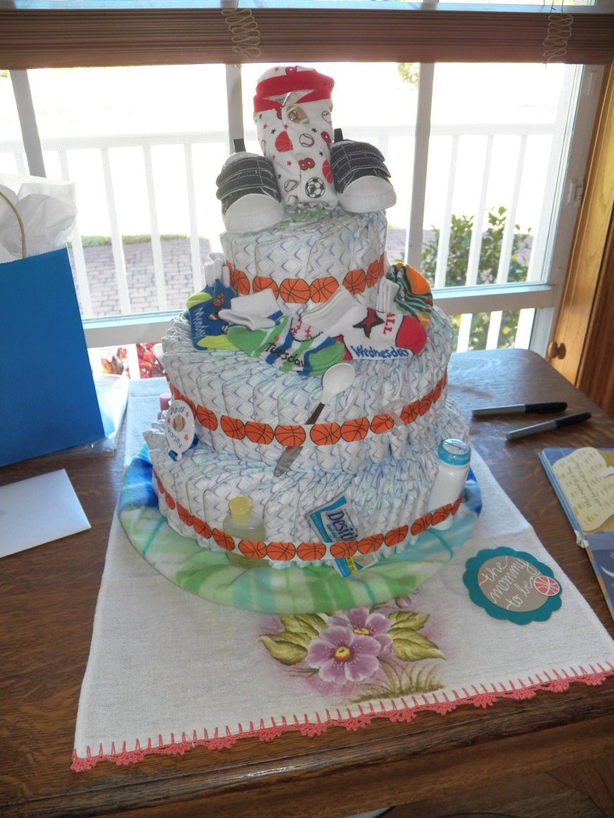 Amazing Diaper Cake made by my mother in law.
